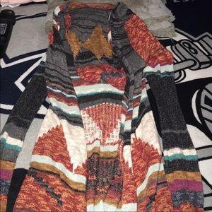 MUDD- Aztec Hooded Cardigan